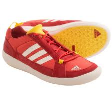 ADIDAS MEN RED WHITE BOAT LACE  3