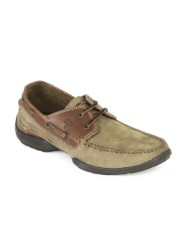 WOODLAND MEN BROWN BOAT SHOES